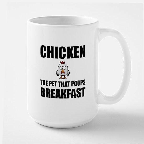 Chickens Poop Breakfast Mugs