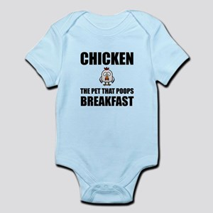 Chickens Poop Breakfast Body Suit