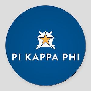 Pi Kappa Phi Round Car Magnet