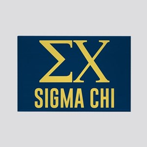 Sigma Chi Letters Rectangle Magnet