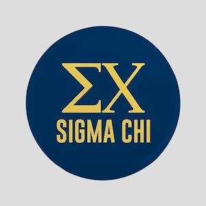 Sigma Chi Letters Button