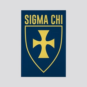 Sigma Chi Logo Rectangle Magnet