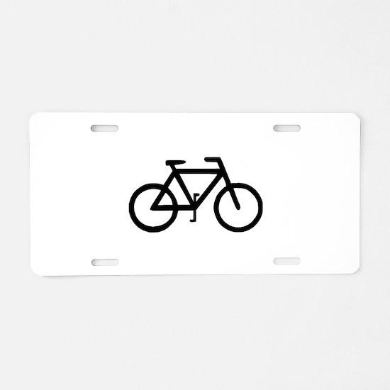 Bike Bicycle Cyclist Biker Aluminum License Plate