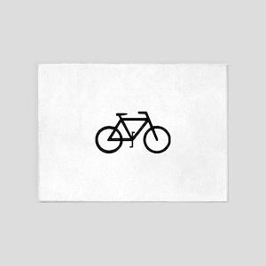 Bike Bicycle Cyclist Biker 5'x7'Area Rug