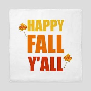 Happy Fall Y'all Queen Duvet