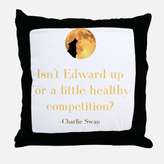 Cute Charlie swan Throw Pillow