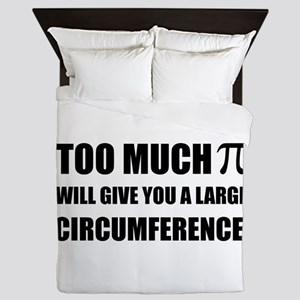 Too Much Pi Symbol Circumference Queen Duvet