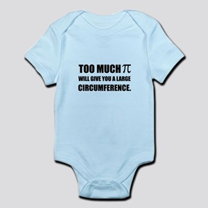 Too Much Pi Symbol Circumference Body Suit
