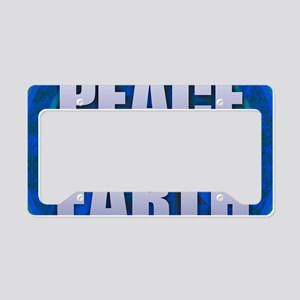 PEACE ON EARTH License Plate Holder