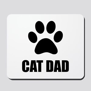 Cat Dad Paw Mousepad