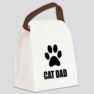 Cat Dad Paw Canvas Lunch Bag