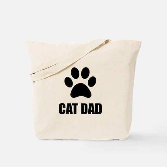 Cat Dad Paw Tote Bag
