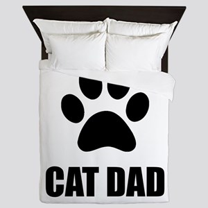 Cat Dad Paw Queen Duvet