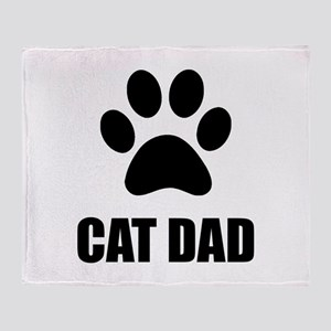Cat Dad Paw Throw Blanket
