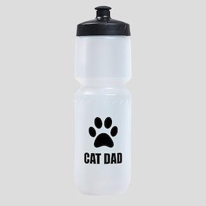 Cat Dad Paw Sports Bottle
