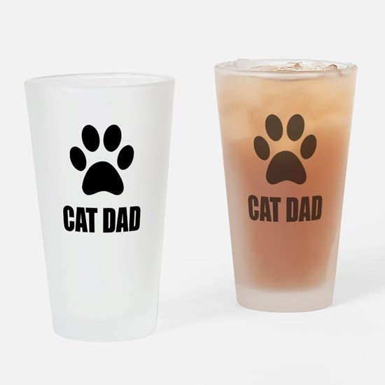 Cat Dad Paw Drinking Glass