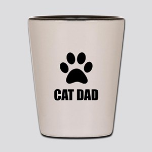 Cat Dad Paw Shot Glass