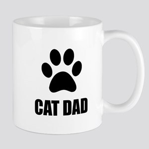 Cat Dad Paw Mugs