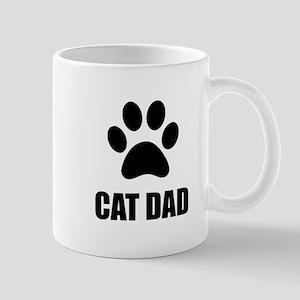 Cat Dad Paw Mugs