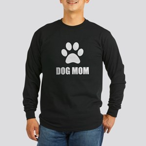 Dog Mom Paw Long Sleeve T-Shirt