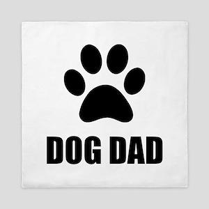 Dad Dog Paw Queen Duvet