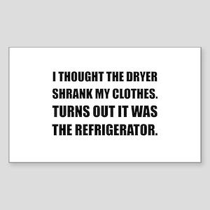 Refrigerator Shrank Clothes Sticker