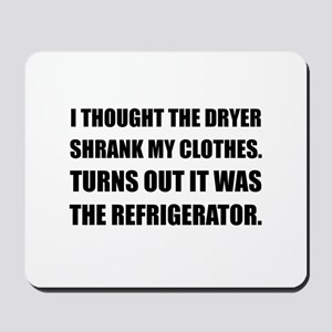 Refrigerator Shrank Clothes Mousepad