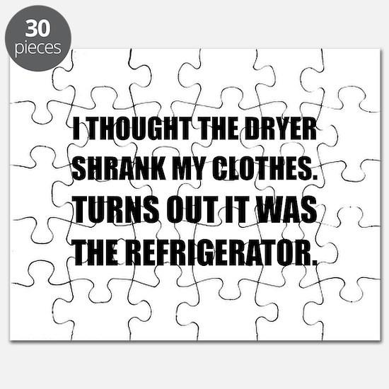 Refrigerator Shrank Clothes Puzzle