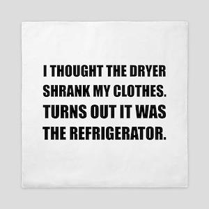 Refrigerator Shrank Clothes Queen Duvet