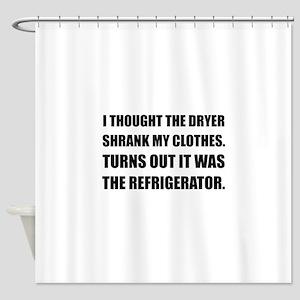 Refrigerator Shrank Clothes Shower Curtain