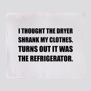 Refrigerator Shrank Clothes Throw Blanket