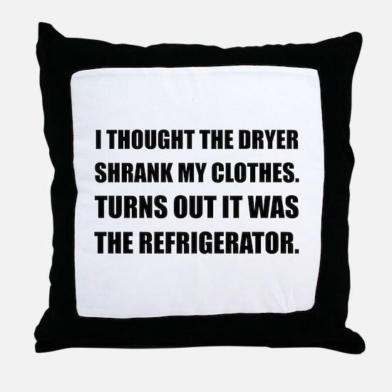 Refrigerator Shrank Clothes Throw Pillow