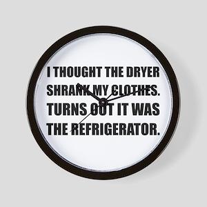 Refrigerator Shrank Clothes Wall Clock