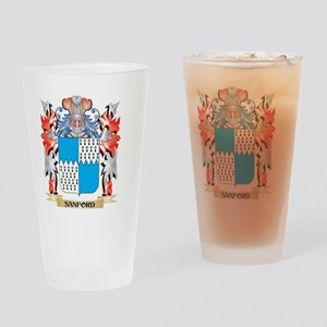 Sanford Coat of Arms - Family Crest Drinking Glass