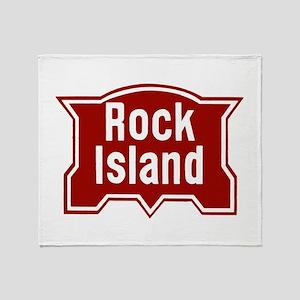 Rock Isle Railway Throw Blanket