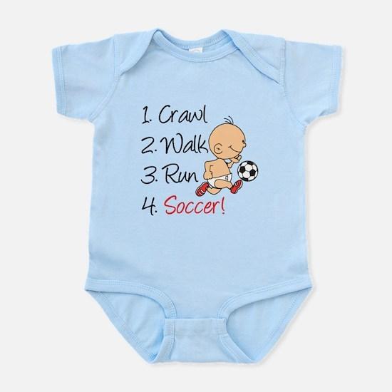 Crawl Walk Run Soccer Body Suit