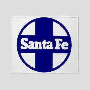 Santa Fe Railroad Blue Throw Blanket