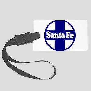 Santa Fe Railroad Blue Large Luggage Tag
