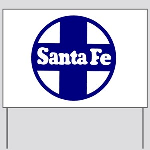 Santa Fe Railroad Blue Yard Sign