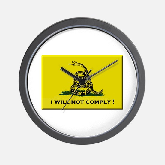 I will not comply Wall Clock
