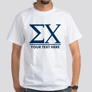 Sigma Chi Letters Personalized White T-Shirt