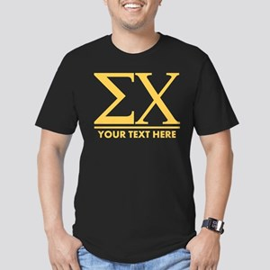 Sigma Chi Letters Pers Men's Fitted T-Shirt (dark)