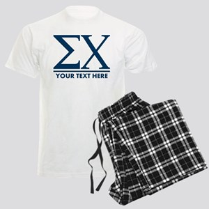 Sigma Chi Letters Personalize Men's Light Pajamas