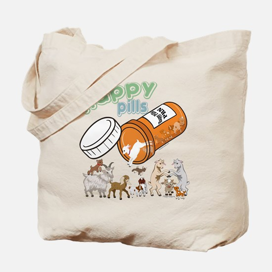 Goats   My Happy Pills GetYerGoat Origina Tote Bag