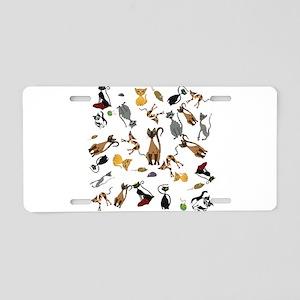 KwazyKatz Rain Aluminum License Plate
