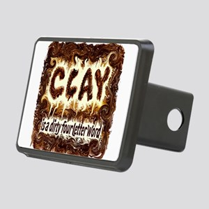 DIRTY WORD POTTERY Rectangular Hitch Cover