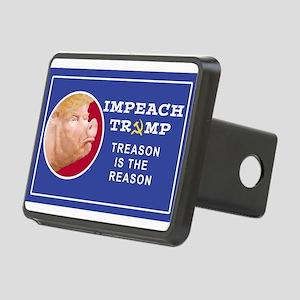 Impeach Trump: Treason is Rectangular Hitch Cover