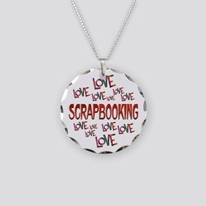 Love Love Scrapbooking Necklace Circle Charm