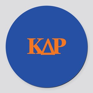 Kappa Delta Rho Letters Round Car Magnet