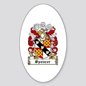 Spencer Coat of Arms Oval Sticker